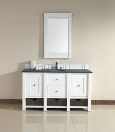 60 Inch Single Sink Bathroom Vanity in Cottage White UVJMF800V60SCWH60