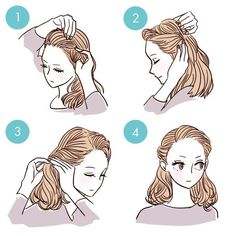 Wonderful DIY Easy Hairstyles for Busy Morning diy hairstyles Simple DIY Tutorials on How to Style Your Hair in 3 Minutes Quick Hairstyles, Pretty Hairstyles, Easy Hairstyle, Hairstyle Ideas, Easy Formal Hairstyles, School Hairstyles, Medium Hairstyles, Latest Hairstyles, Prom Hairstyles