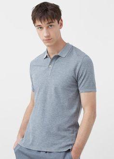 Mango Outlet Slim-fit cotton-piqué polo shirt