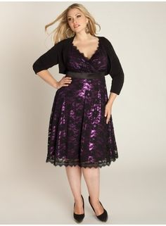 Leigh Lace Dress in Black Iris. I really want this! Wish I had some sort if nice holiday party to wear something like this to.