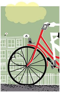 """cute design...Notice the sweet heart in the bicycle tire....Bird on tire is """"tweeting"""" Won't you be my Valentine?? ;D"""