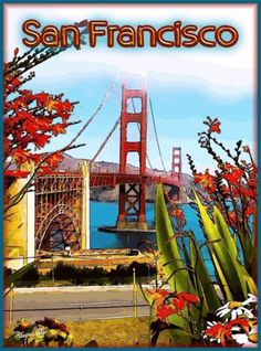 San-Francisco-Golden-Gate-California-United-States-Travel-Advertisement-Poster