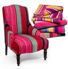 Frazadas covered chair.