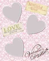 Valentines day scrapbook layout