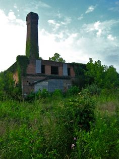 Asheville, NC. Industrial remnants along the French Broad River