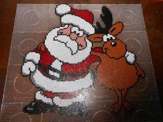 Christmas Santa Claus hama perler beads (16 pegboards) by hardy8676