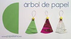 Resultado de imagen para arbolitos de navidad de papel