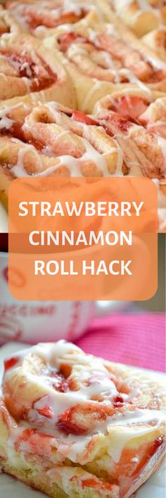 Strawberry Cinnamon Rolls - My Album Of Recipes Strawberry Cinnamon Rolls, Cinnamon Roll Muffins, Cinnamon Roll Dough, Cinnabon, Tapas, New York Cheesecake Rezept, Slow Cooker, Cinnamon Bun Recipe, Recipes