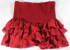 """~~~ FRENCH-HIPPIE-IN-THE-COUNTRY ~~~ ISABEL MARANT """"SMOCKED"""" MINI SKIRT ~~ 38 #IsabelMarant #Mini"""