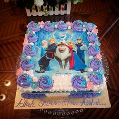 Elsa Birthday Cake, Frozen Themed Birthday Cake, Buttercream Birthday Cake, 2nd Birthday Party Themes, Disney Frozen Birthday, Frozen Theme Party, 4th Birthday, Bolo Frozen, Pastel Frozen
