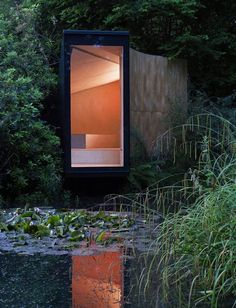 Forest Pond Folly by TDO - nice little meditation space in a well-composed garden.