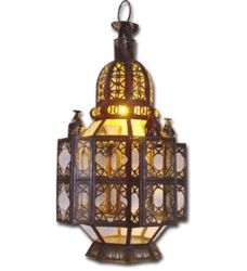 """$130   Can be hung or placed on floor or table.  15"""" high         Douira Moroccan lantern"""
