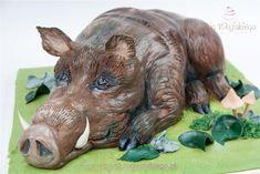 Wild Hog cake / tort w kształcie dzika - Cake by Edyta rogwojskiego.pl