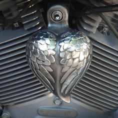 We're loving this gift idea for motorcycles - Angel Heart Wings horn cover. gotta have it when i get my harley!