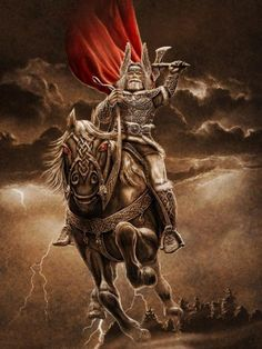 Perun is a Slavonic god of pagan times which corresponds to Thor. Instead of a hammer, Perun is armed with an axe.