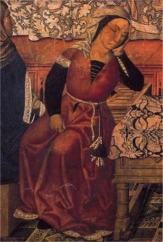 Nacimiento San Esteban o El diablo rapta a San Esteban neonato y lo suplanta por una criatura infernal, taller de Vergos, h. 1480 Museo Nacional de Arte de Cataluña, Barcelona