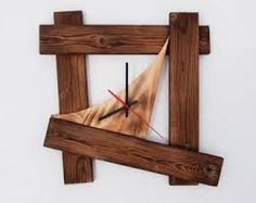 Image result for handmade wooden wall clocks