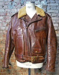 "burgundschild: "" Vintage Aero Leather Motorcycle Jacket in brown Front Quarter Horsehide. For Sale 800 €! Check at Burg&Schild store. """