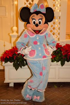 Minnie in her PJs