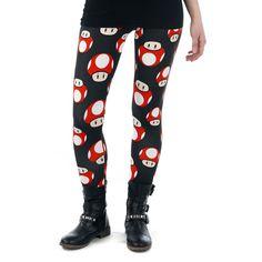 "#Leggings ""Mushroom"" del brand Nintendo."