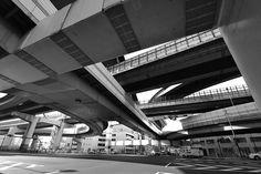 阿波座分岐  Awaza, Osaka by Takashi Hari