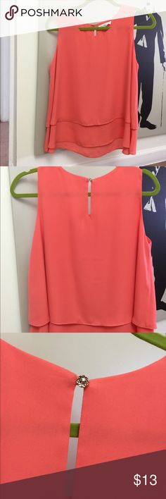 Stellaluce Coral Top Coral orange .. it's brand new ! Summer ! stellauce Skirts A-Line or Full