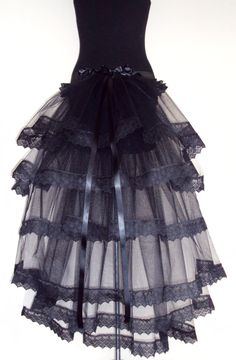 $50 Black Lace Bustle TuTu Belt US. 12 14 16 UK. 14 16 18 HALLOWEEN
