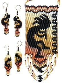 Free Peyote Stitch Earring Patterns | Peyote stitch, the pattern includes 2 styles of matching earrings ...