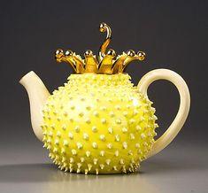 Spikey yellow teapot