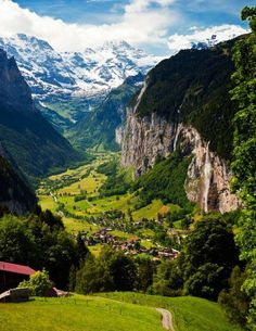 Lauterbrunnen Valley, Switzerland || Get travel tips and inspiration for your visit to Switzerland at http://www.holidaystoeurope.com.au/home/resources/destination-articles/switzerland
