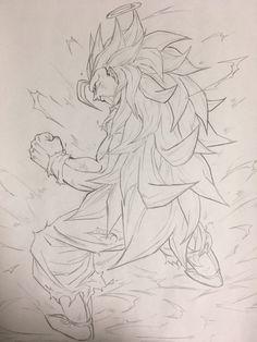 Dessin : Son Gokū Super Saiyajin 3 Full power