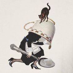 Trinca Unplusun / Over-sized Tea cup maid T-shirt