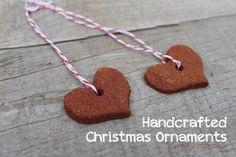 Handcrafted cinnamon dough ornaments