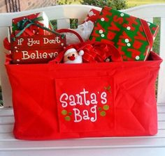 Great way to carry all your #packages to family during the #holidays - #Santa's got a brand new bag! Just $42 personalized!