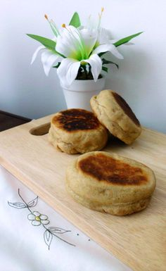 Whole Wheat English Muffins | pinkrecipebox.com