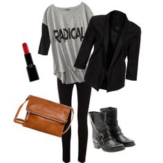 Concert outfit. LOVE LOVE LOVE/ of course with a big sweater for the fall!