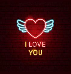 Love you neon sign Royalty Free Vector Image - VectorStock