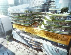 With a Bookstore at its Core Aedas Unveils Mix-use Project Inspired by Rolled…