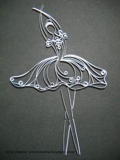20 Magnifiques modèles de Ballerines en paperolles! Le Quilling! - Bricolages - Des bricolages géniaux à réaliser avec vos enfants - Trucs et Bricolages - Fallait y penser !