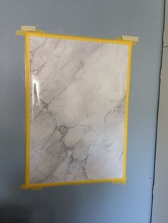 Faux painted carrara marble