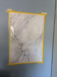 Faux painted carrara marble