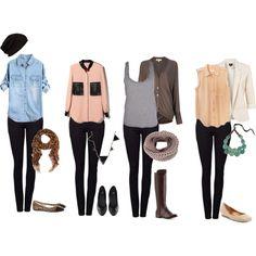 """black skinny pants for fall fashion"" by starstrucksmile on Polyvore"