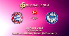 Prediksi Bayern München Vs Hertha Berlin 25 April 2015 – Lanjutan kompetisi Liga Jerman 2014-2015 yang mempertemukan Bayern München Vs Hertha Berlin. Pertandingan diantara kedua tim ini akan berlangsung di Stadion Allianz-Arena (München) markas besar Bayern München yang akan dimulai pada pukul 23:30 WIB.