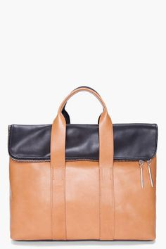 3.1 PHILLIP LIM Black & Brown 31 Hour Bag