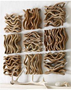 leuke knutsel ideetjes - driftwood wall art (via pinterest)
