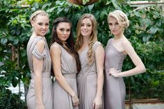 Full length bridesmaid gowns in varying styles available from whiterunway.com.au. For more bridesmaid fashion trends see http://www.modernwedding.com.au/key-bridesmaid-fashion-trends/ #bridesmaids #dresses
