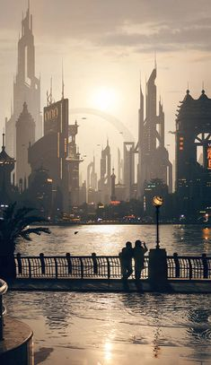 20 Absolutely Magnificent Futuristic City Digital Art - PSD Vault This is what WE think the future city looks like. We are as crazy as they were in - See previous pins. Cyberpunk City, Arte Cyberpunk, Futuristic City, Futuristic Architecture, Future City, Art Pulp, Ai No Kusabi, Sci Fi City, Fantasy City