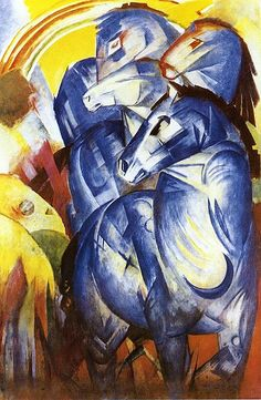 The Tower of Blue Horses - Franz Marc