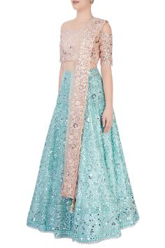 Trendy Dresses, Simple Dresses, Indian Dresses, Indian Outfits, Lehenga Online Shopping, Lengha Dress, Mirror Work Lehenga, Couture Looks, Indian Bridal Lehenga