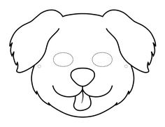 Six free printable dog and puppy masks to color and craft into wearable paper masks. Printable Crafts, Free Printables, Printable Templates, Printable Animal Masks, Dog Mask, Paper Mask, Dogs And Puppies, Coloring Pages, Card Stock